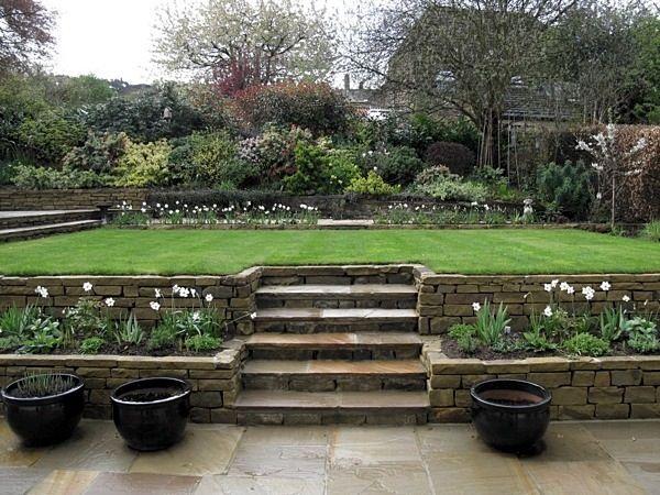 Garden Design Ilkley 3941 Jpg 600 450 Pixels Sloped Garden Garden Design Patio Garden