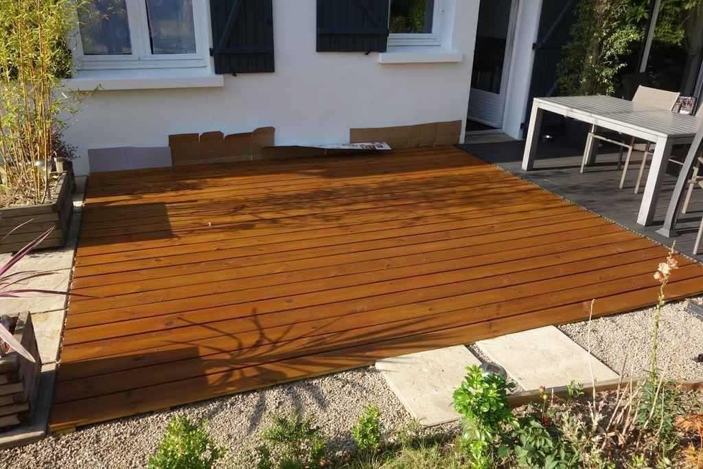 Comment Poser Une Terrasse Composite Sur Lambourdes Et Plots Terrasse Bois Terrasse Composite Et Terrasse Bois Composite