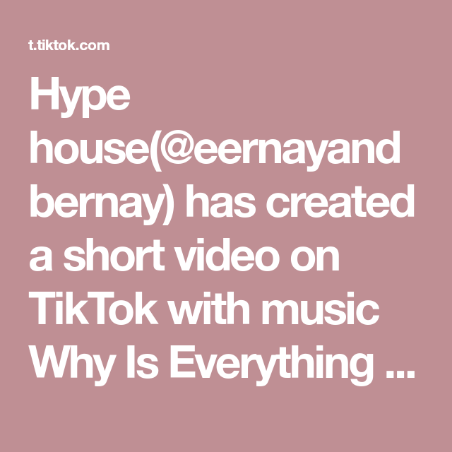 Hype House Eernayandbernay Has Created A Short Video On Tiktok With Music Why Is Everything Chrome Lean Swag Rock Wit It Remember To Audition And Tag Us An