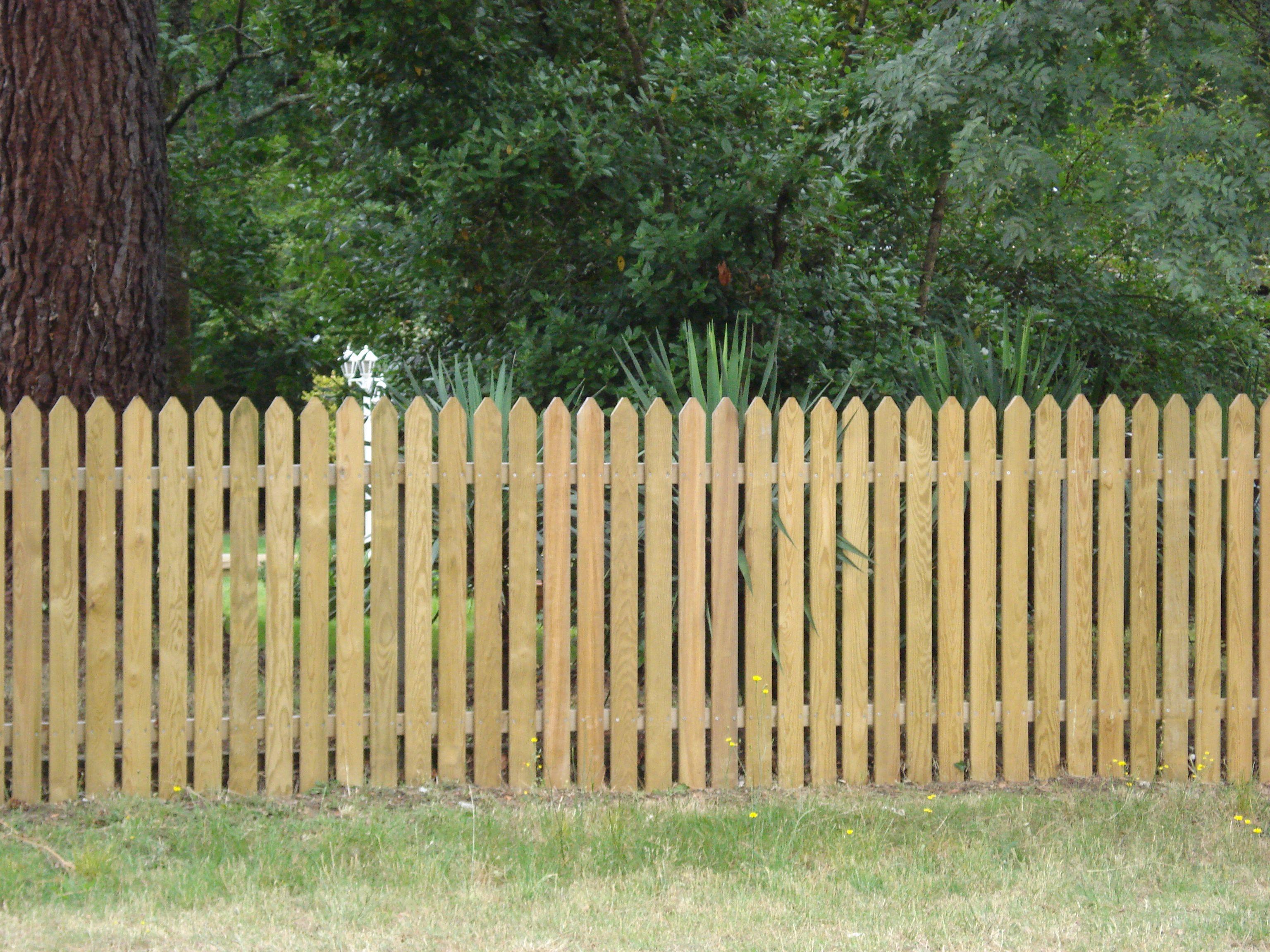 Cl ture bois andernos les bains cl ture ext rieur de Cloture en bois jardin