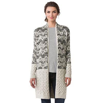 Cable-Knit Fair Isle Sweater Coat - TravelSmith | Products ...