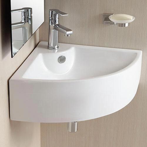 Photo of Osseo Vitreous China Wall-Mount Corner Bathroom Sink