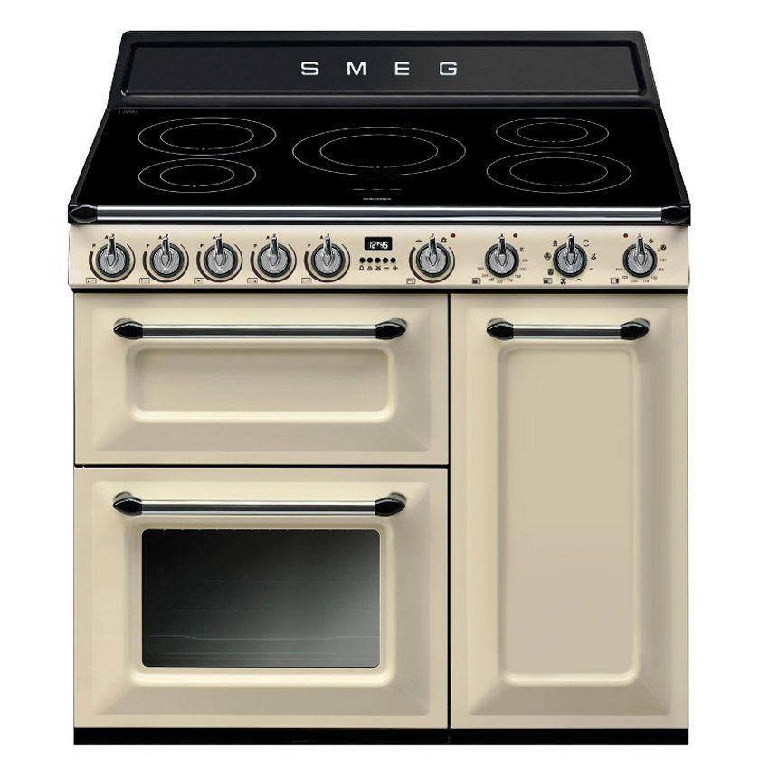 Smeg Tr93ip 90cm Victoria Electric Range Cooker In Cream Range Cooker Electric Range Cookers Smeg