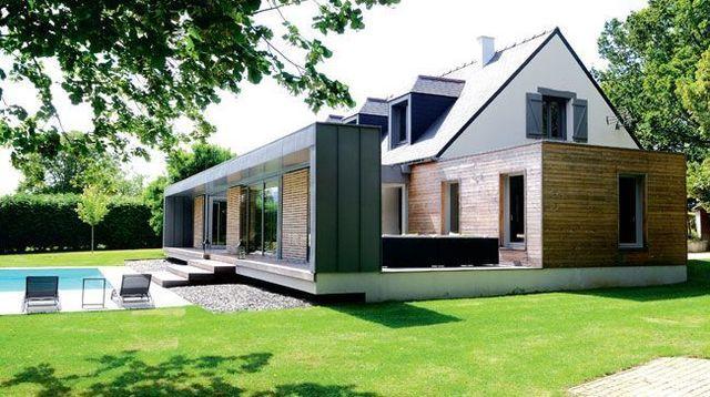 60 m2 pour une extension en bois Extensions and Verandas - agrandissement maison bois prix m