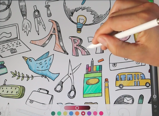 The Best Drawing Apps For The Ipad Pro Digital Trends Cool Drawings Coloring Books Ipad Pro Drawing App