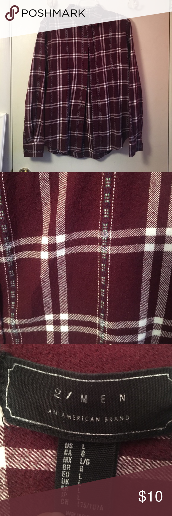 Purple flannel men  Burgundy flannel  Flannels Forever  red and Unisex