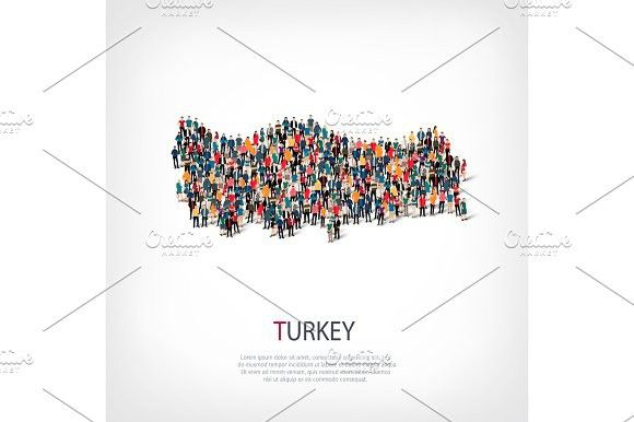 people map country Turkey vector. Travel Infographics | Travel ...