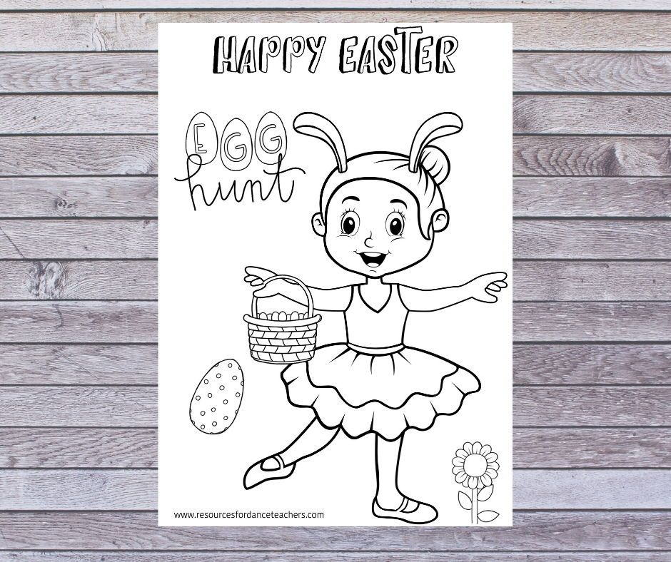 Top 5 Preschool Ballet Easter Songs And Activities Dance Coloring Pages Dance Teacher Gifts Dance Teacher Tools