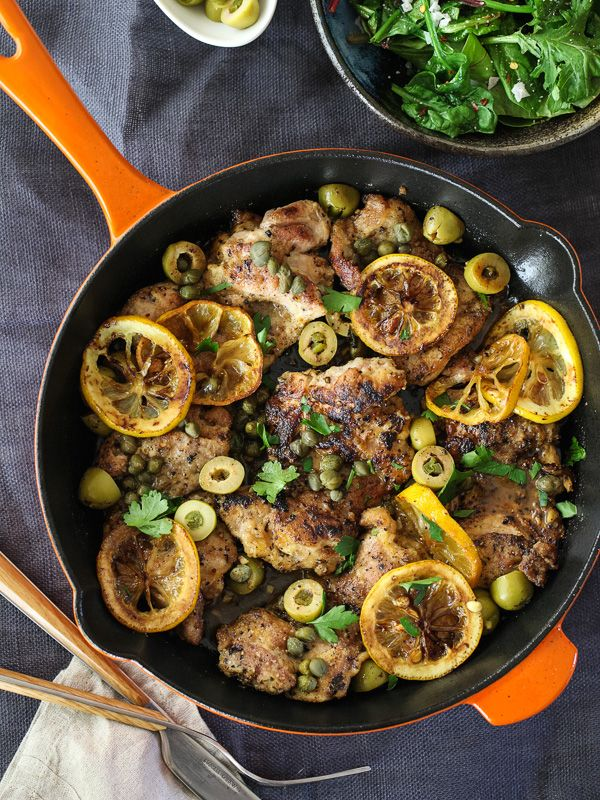 Sauted Chicken With Olives Capers And Lemons Foodiecrush
