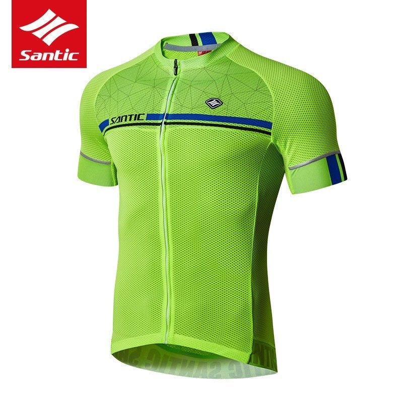 Santic Cycling Jersey 2018 Pro Team Mens Mountain Road Bike Jersey Short Sleeve  Breathable Bicycle DH Jersey Cycling Clothing 5a0063571