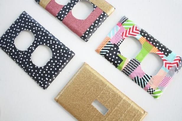 How To Decorate Switch Plates And Electrical Covers Using Washi Tape Diy Network Tape Crafts Crafts