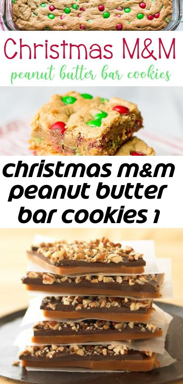 Christmas mm peanut butter bar cookies 1 Christmas MM Peanut Butter Bar Cookies is a fun and festive bar cookie for the holidays Its loaded with peanut butter and great c...
