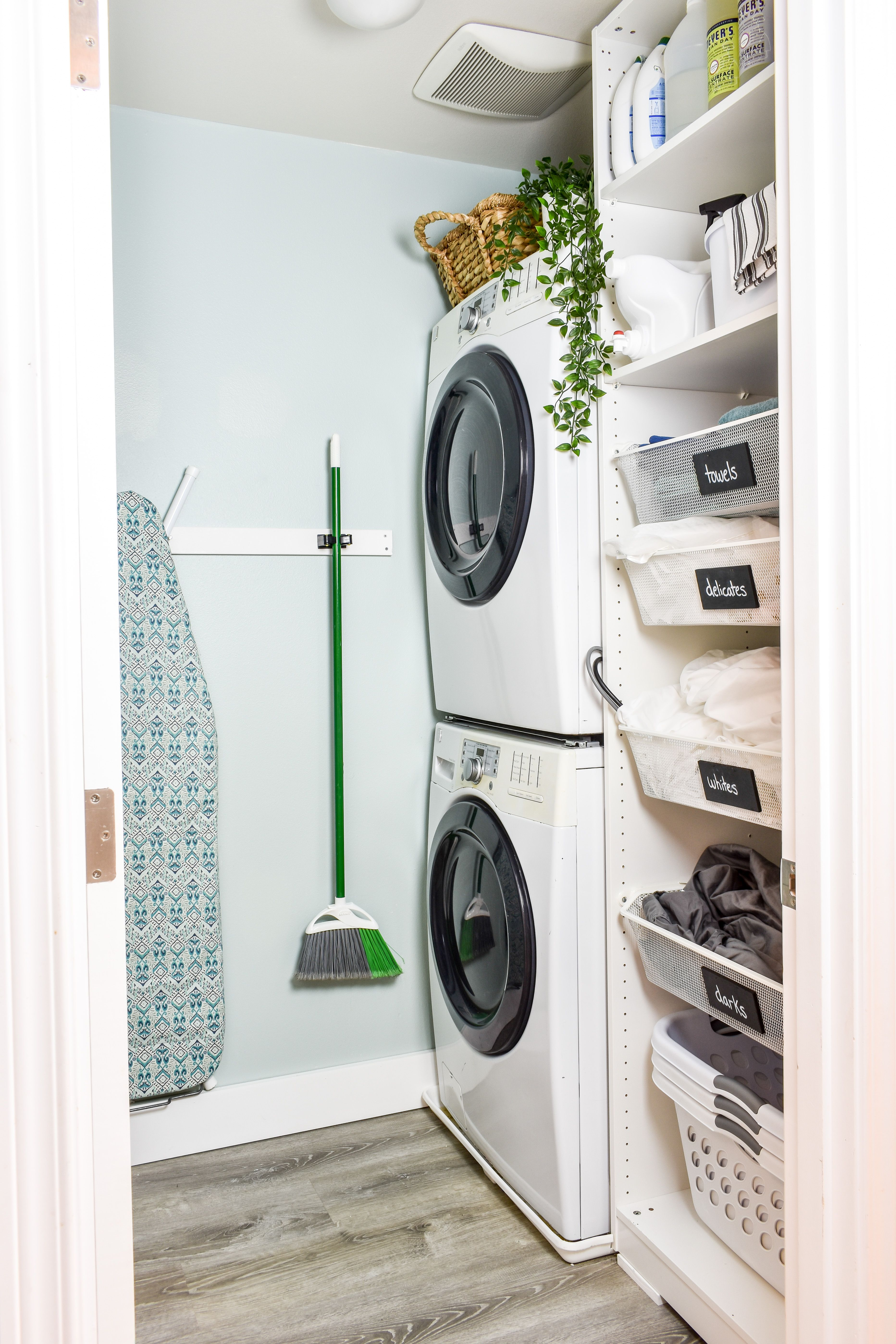 Small Laundry Room Makeover Small Laundry Room Makeover Washer Dryer Laundry Room Laundry Room Makeover