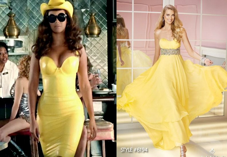 Telephone Beyonce And Lady Gaga Yellow Dress Costume Perfect Prom