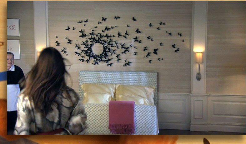Online Interior Design: Gossip Girl's Butterfly Wall