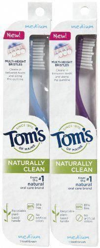 of Maine Naturally Clean Toothbrush Medium From the natural oral care