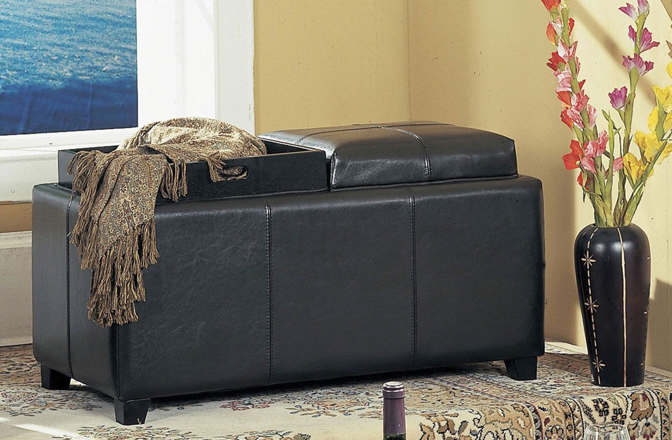 Tail Storage Ottoman Black Two Tray All Top Cushions Convert To Trays 249 00 36 X
