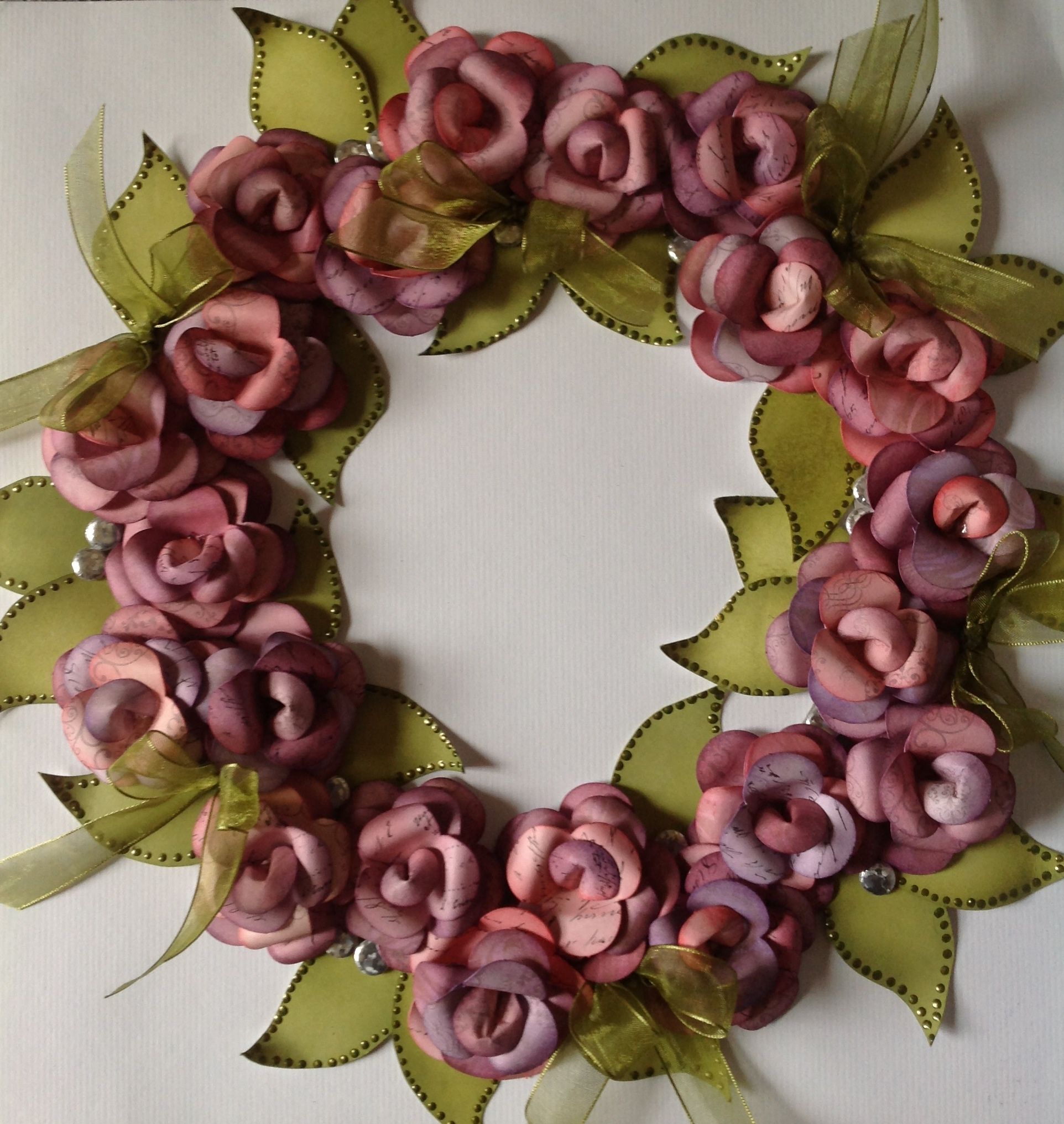 Wreath Created Using Christmas Rose Kit Petals Inked To Add