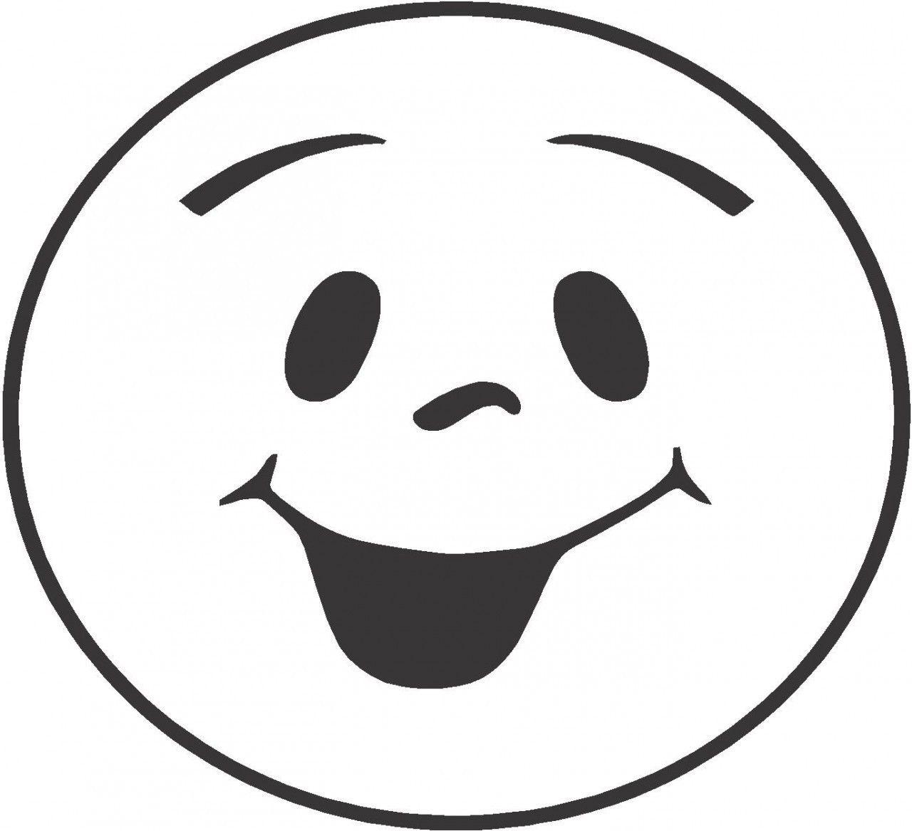 Happy Emoji Coloring Worksheet