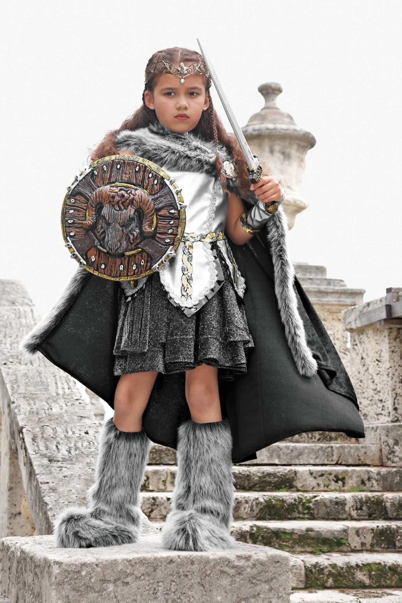 Dragon Warrior Fighter Girls Child Halloween Costume