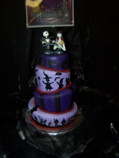 Topsy Turvy Nightmare Before Christmas Wedding Cake By hilly on