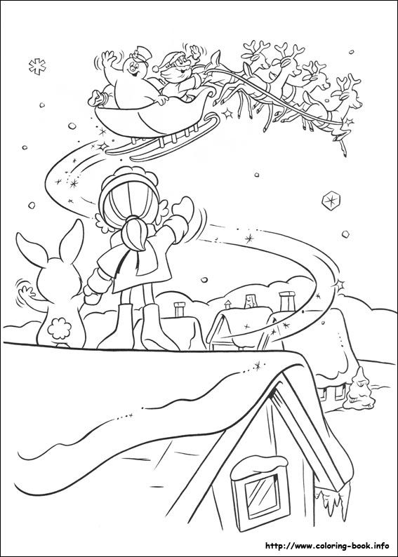 Frosty the snowman coloring picture | Coloring pages | Pinterest ...