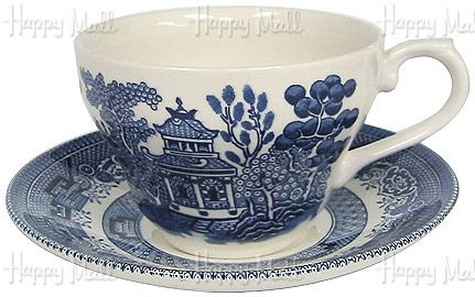 Churchill Blue Willow Ware Cup And Saucer Set