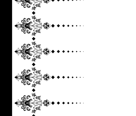 Haunted Mansion Damask Border in Black on White fabric by charmcitycurios on Spoonflower - custom fabric