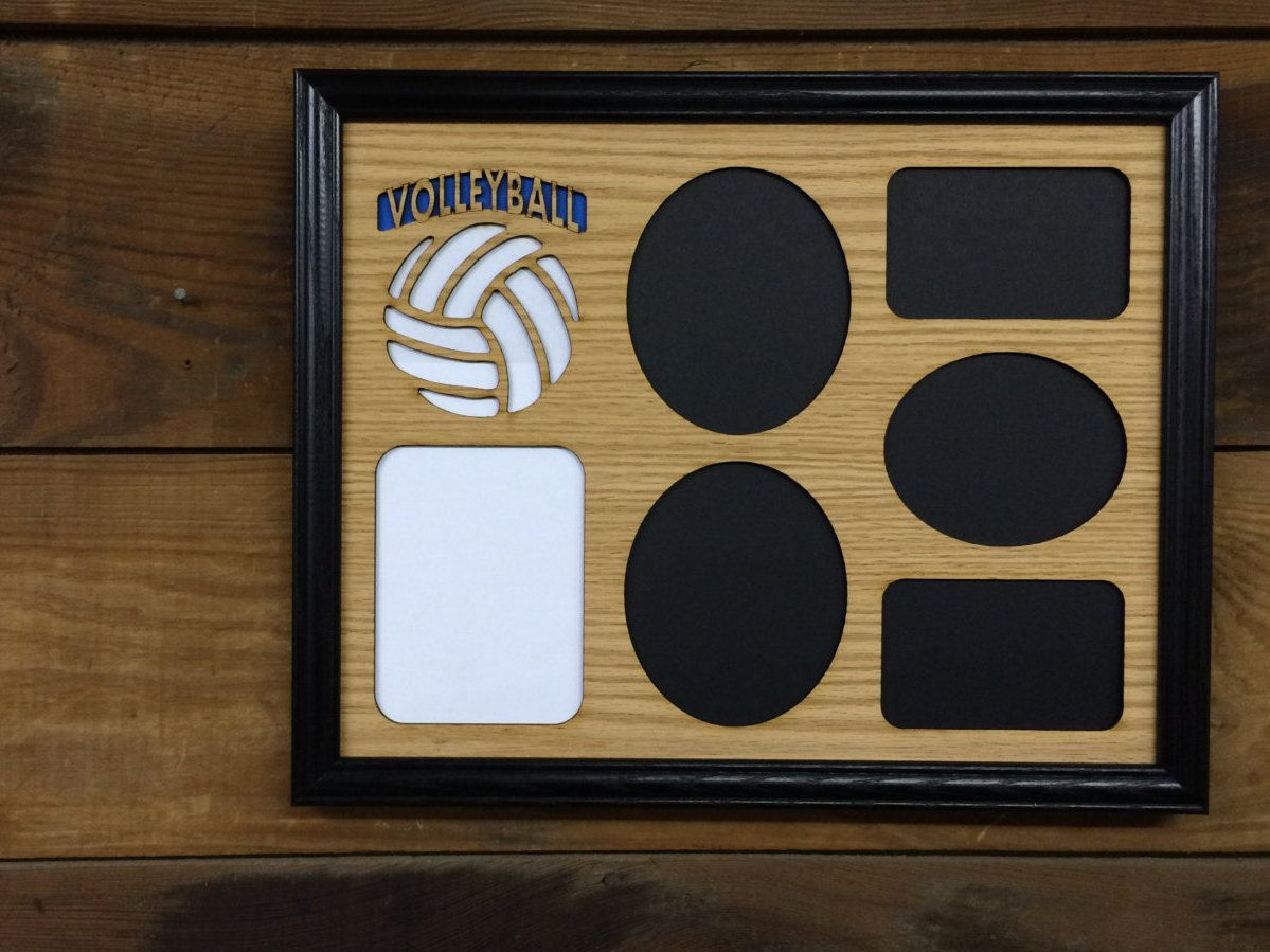 Volleyball Picture Frame Collage Frame Hold Multiple Photos Etsy Volleyball Pictures Volleyball Player Gifts Volleyball Coach Gifts