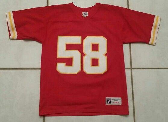 info for 4b01e d2672 Vintage LOGO 7 Kansas City Chiefs Derrick Thomas NFL Jersey ...
