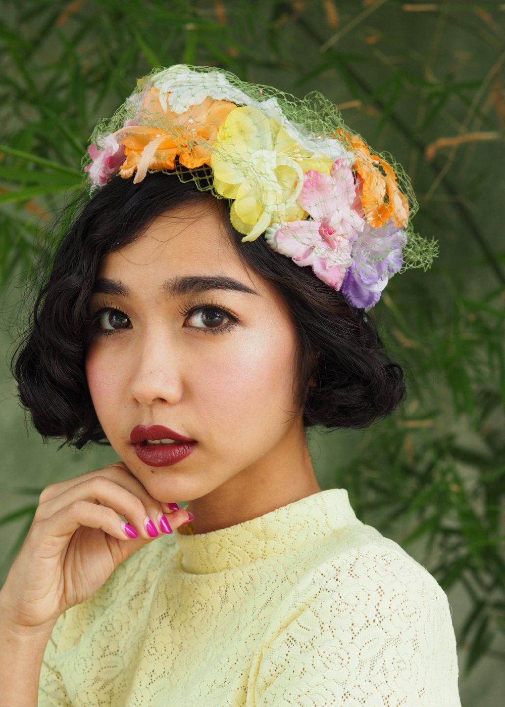 Vintage Hat Vintage Womens Hat 1960s Silk Floral Hat Etsy Hats Vintage Vintage Millinery Vintage Ladies
