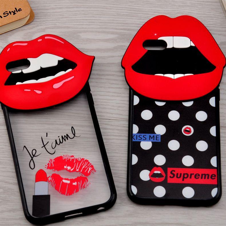 coque iphone 6 bouche 3d