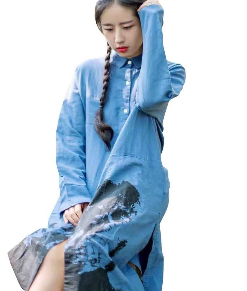 37cb062c5 YESNO QE2 Women Long Button-Down Shirts Dress Casual Maxi Loose Hi-Low 100%  #fashion #clothing #shoes #accessories #womensclothing #tops (ebay link)