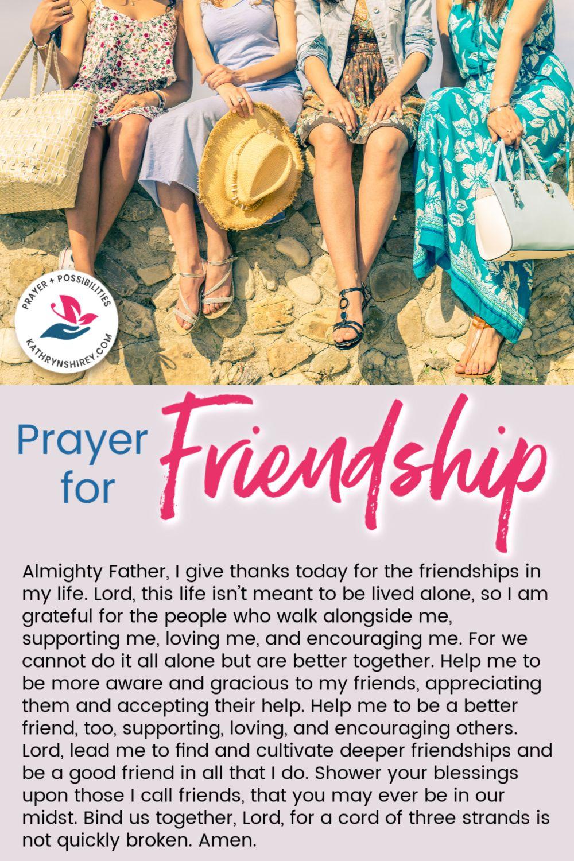 Daily prayer for friendship prayer for friendship