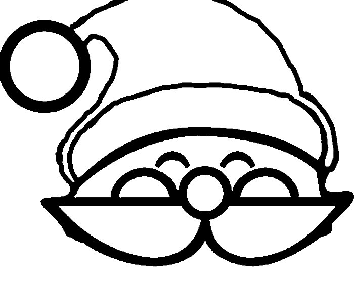 Santa Face With Christmas Hat Coloring For Kids Christmas Coloring Pages Kidsdrawing F Kids Christmas Coloring Pages Santa Face Advent Calendars For Kids