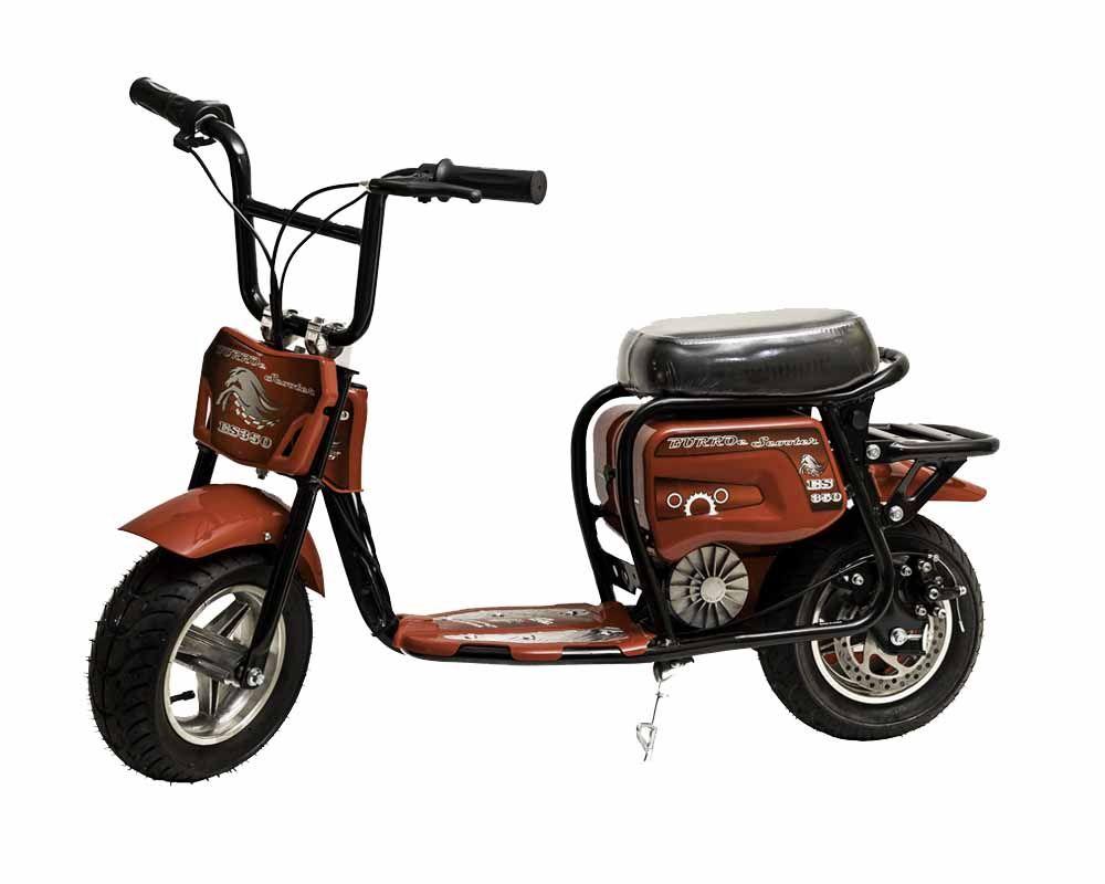 Burromax Electric Mini Bike Es350 Red Mini Bike Bike Mini