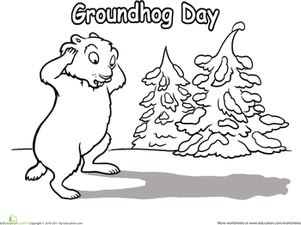 Teach Your Child About This Holiday With A Groundhog Day Coloring Page It Features A Groundhog Who Has Ju Groundhog Day Coloring Pages School Coloring Pages
