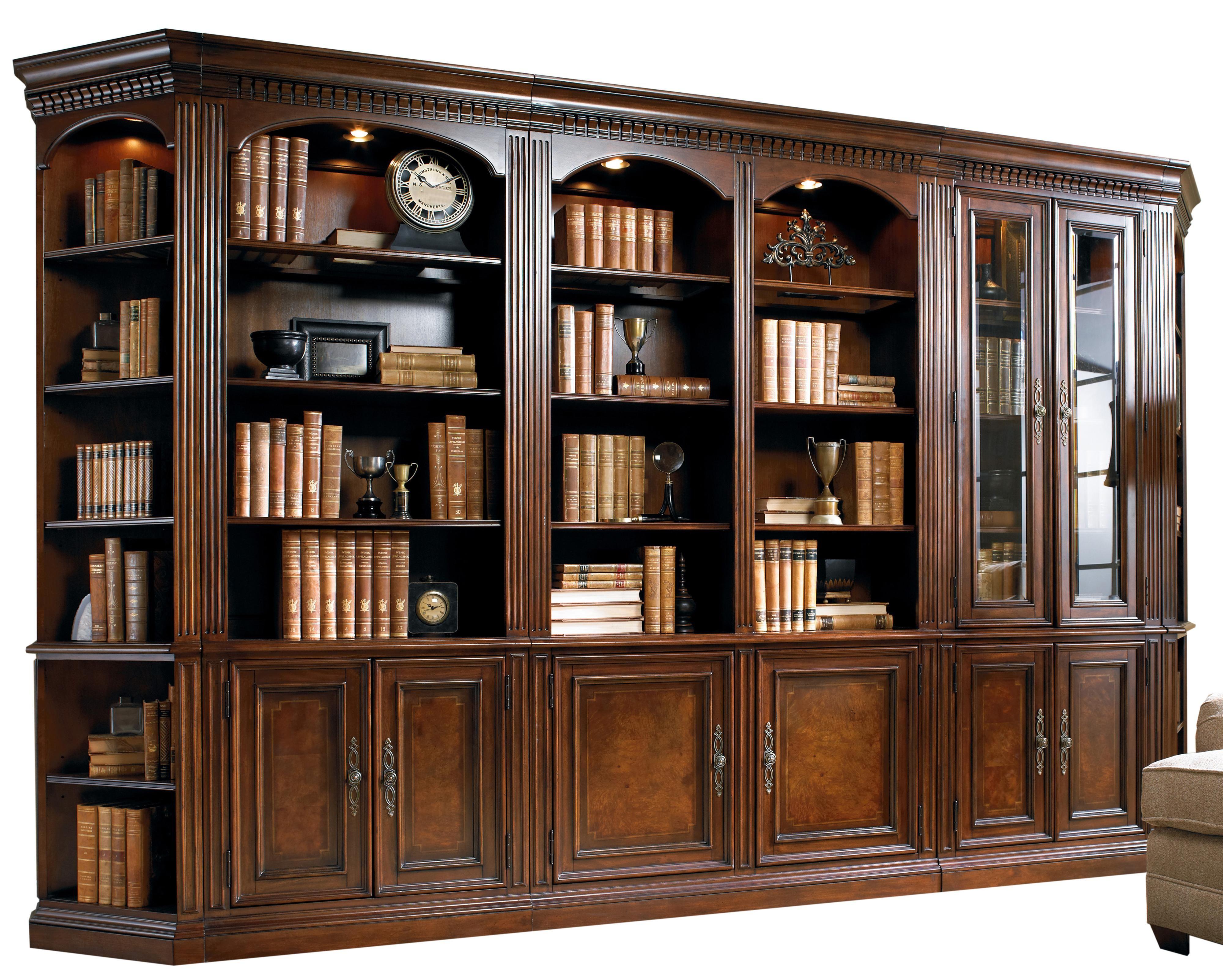 european renaissance ii five piece library wall unit by hooker european renaissance ii five piece library wall unit by hooker furniture