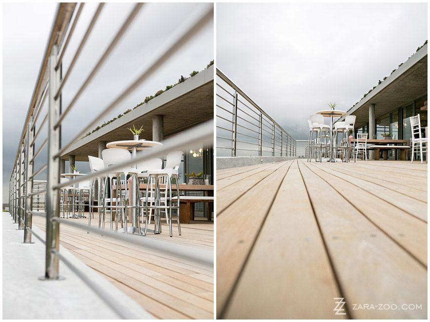 Pre Drinks On The Huge Wooden Deck At Landtscap Wedding Venue In Stellenbosch
