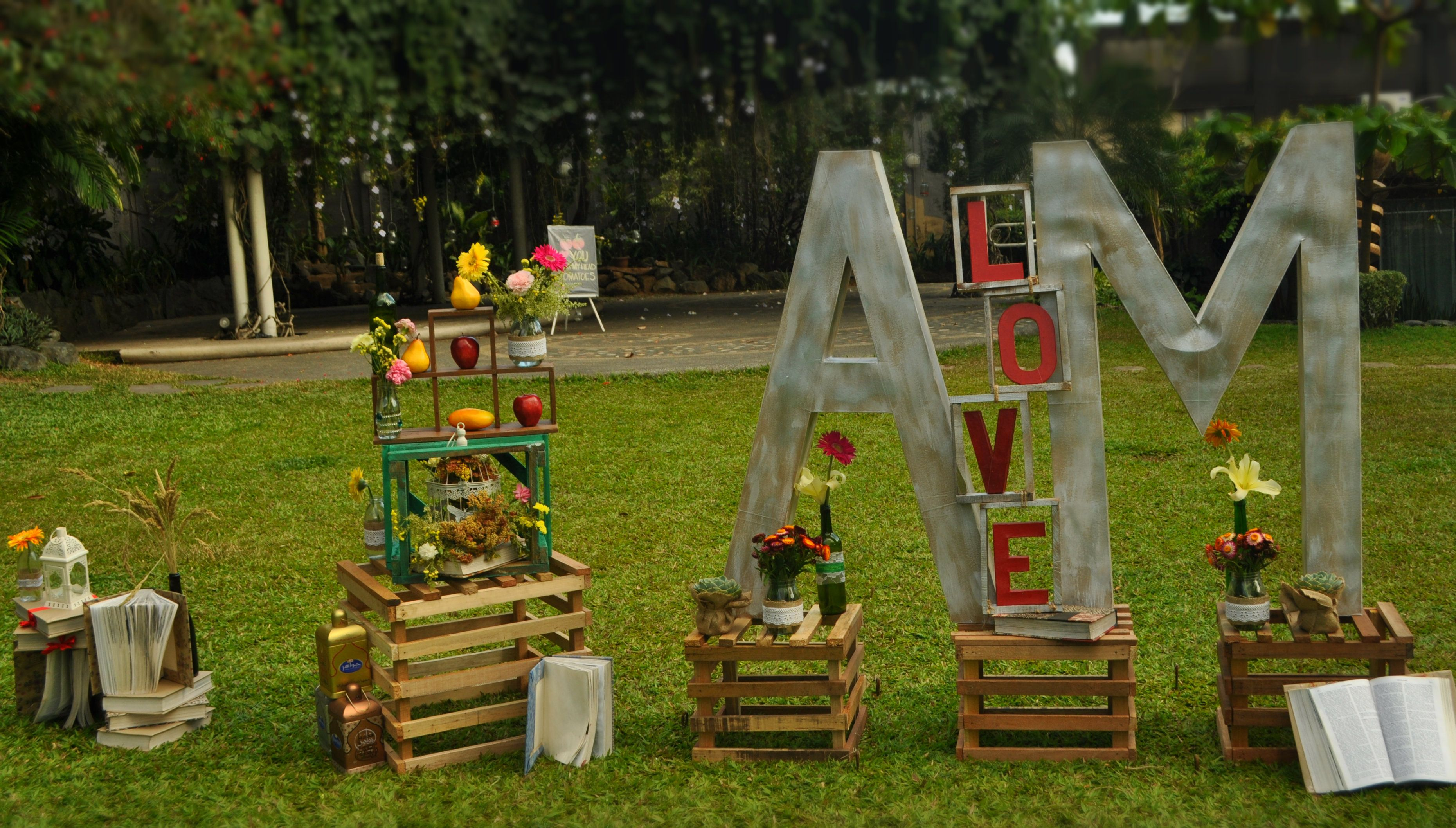 life size letter standee at the garden 09158266161