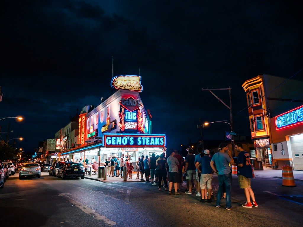 Geno's Steaks is a must during a visit to Philadelphia.   Click to find out 9 more fun things to do in Philadelphia.