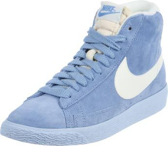 Nike blazer mid suede vintage w bleu chaussures baskets mode