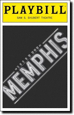 Playbill Cover for Memphis at Shubert Theatre - Black & White, Sept 2011