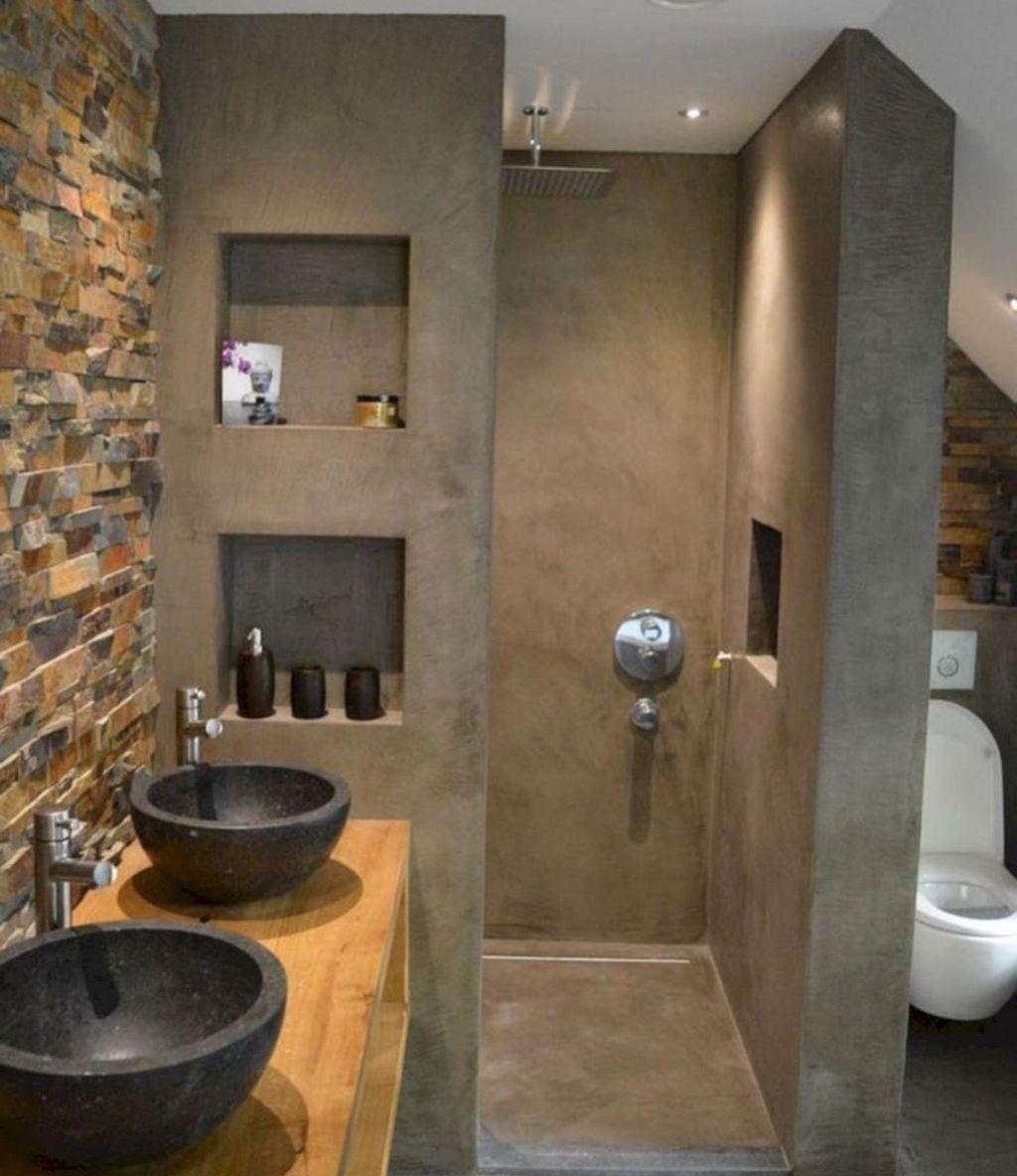 Cool 49 Inspiring Small Bathroom Design Ideas More At Https Dailyhomy Com 2018 10 03 49 Inspiring Sma Bathroom Design Small Small Bathroom Amazing Bathrooms