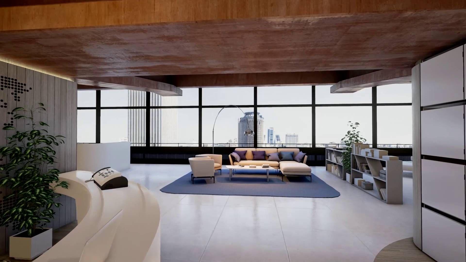 Recorrido Interior De Castellana 81 Edificio De Oficinas En  # Muebles Union Castellana