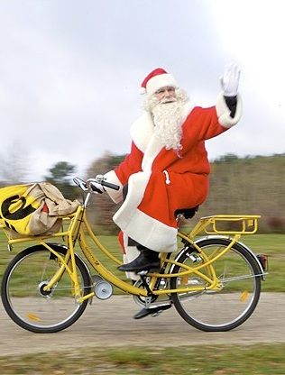 santa on his bike