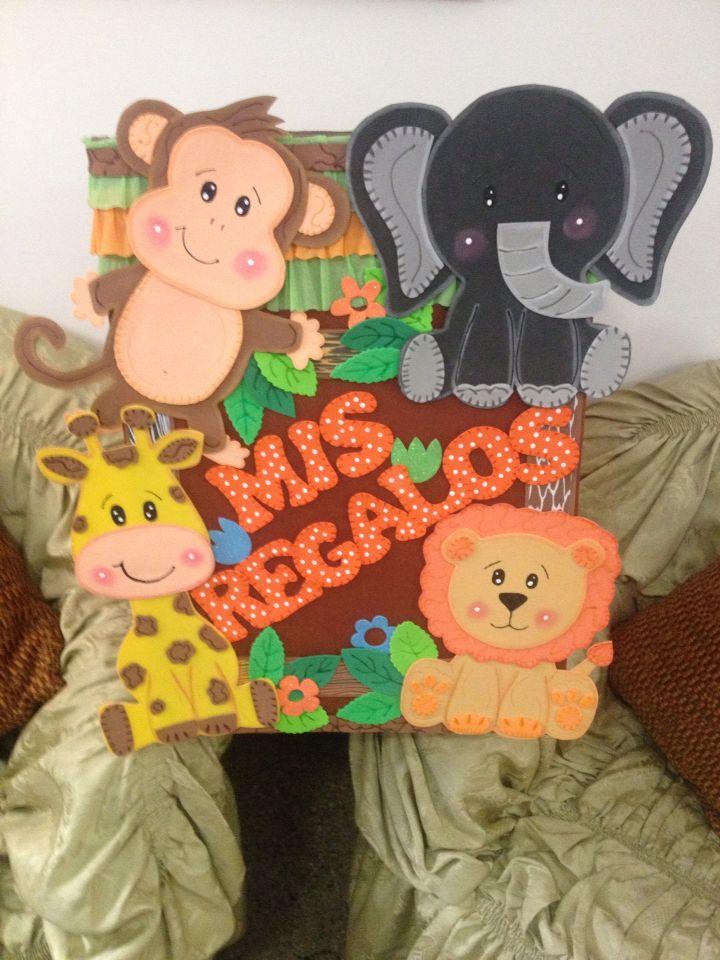 baby shower safari caja de regalos