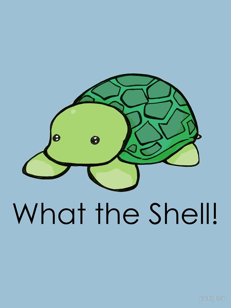 e7593740 What the Shell! (Pun)   Slim Fit T-Shirt   Turtles   Shells, Puns ...