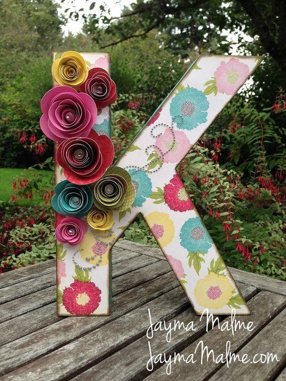 Baby S Initial Flowery Custom Designed 3d Letter 3d
