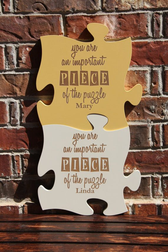 Personalized Puzzle Pieces Plaque Wall Decor By Knootdesigns Wall